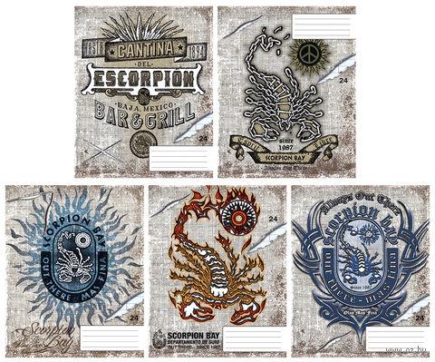 """Тетрадь в линейку """"Scorpion Bay"""" (24 листа)"""