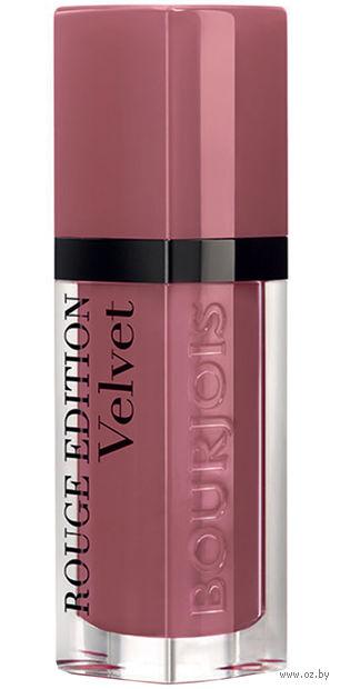 """Помада-флюид для губ """"Rouge edition velvet"""" (тон: 07, коричневый)"""