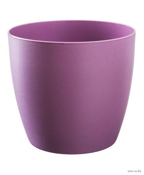 """Цветочный горшок """"Ага"""" (12 см; фиолетовый матовый) — фото, картинка"""