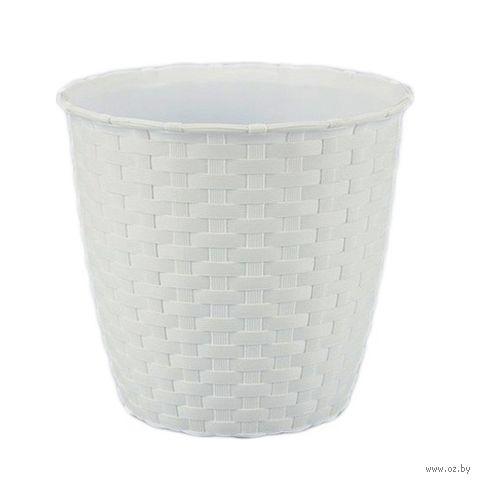 Цветочный горшок (19 см; белый) — фото, картинка