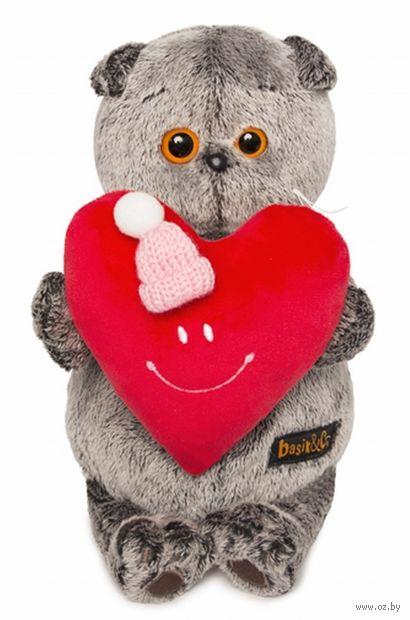 """Мягкая игрушка """"Басик с сердечком"""" (25 см) — фото, картинка"""