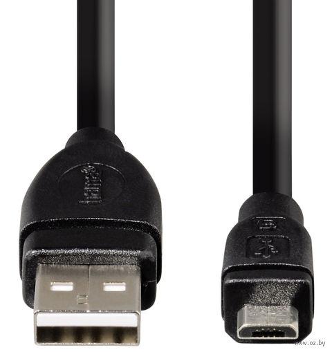 Кабель Hama H-54588 USB 2.0 A-micro B (m-m) 1.8 м экранированный 1зв черный 54588 — фото, картинка