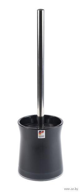 """Ершик для туалета на подставке """"Disco Black"""" (105х105х385 мм) — фото, картинка"""