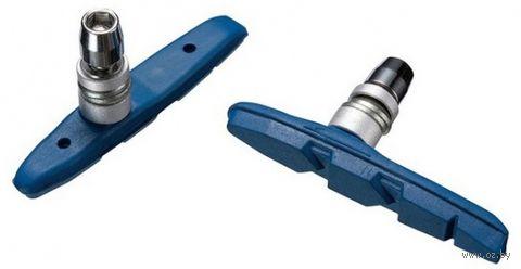 """Колодки тормозные для велосипеда """"MTB-956V-BE"""" (синие; 72 мм) — фото, картинка"""