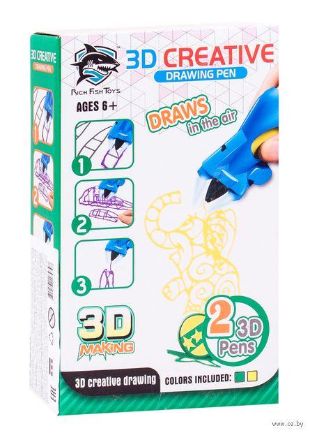 """3D ручка детская """"Rich Fish Toys"""" (жёлтая+зелёная) — фото, картинка"""