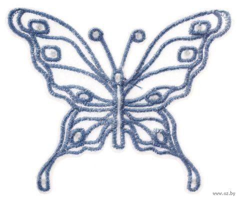 "Термоаппликация ""Бабочка голубая"" (арт. 1432B) — фото, картинка"