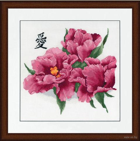 """Вышивка крестом """"Бархатные тюльпаны"""" (330x358 мм) — фото, картинка"""