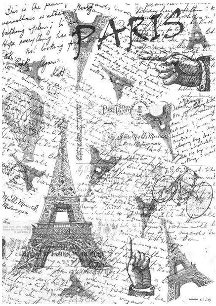 """Бумага для декупажа рисовая """"Париж"""" (210х300 мм) — фото, картинка"""