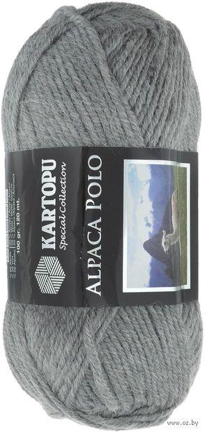 """Пряжа """"KARTOPU. Alpaca Polo №К1001"""" (100 г; 120 м; серый) — фото, картинка"""