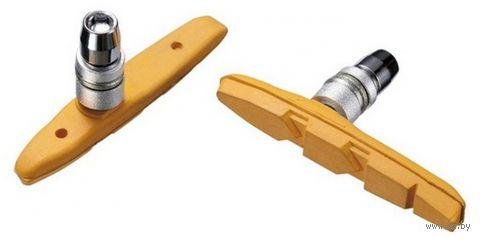 """Колодки тормозные для велосипеда """"MTB-956V-YW"""" (жёлтые; 72 мм) — фото, картинка"""