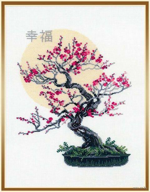 "Вышивка крестом ""Бонсай сакура"" (арт. 1036)"