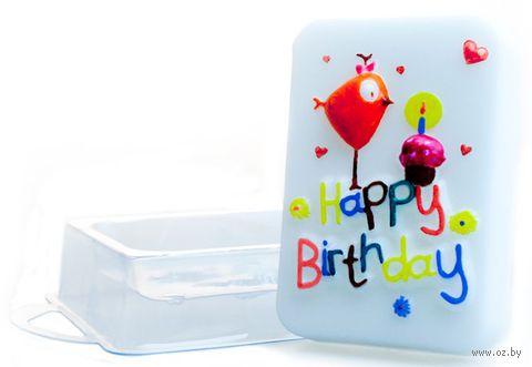 """Форма для изготовления мыла """"День Рождения"""""""