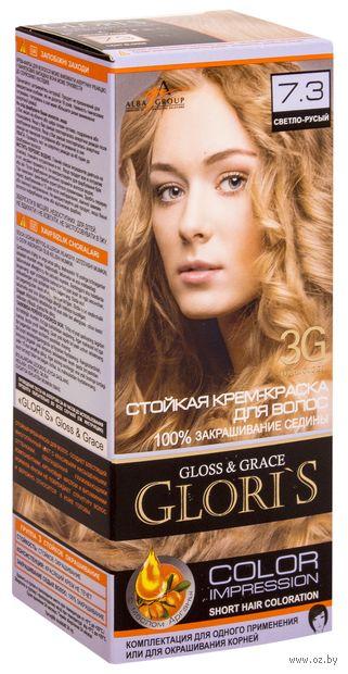 Крем-краска для волос (тон: 7.3, светло-русый) — фото, картинка
