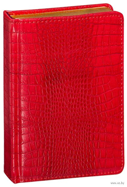 """Ежедневник недатированный """"Manhattan"""" (А6; красный) — фото, картинка"""