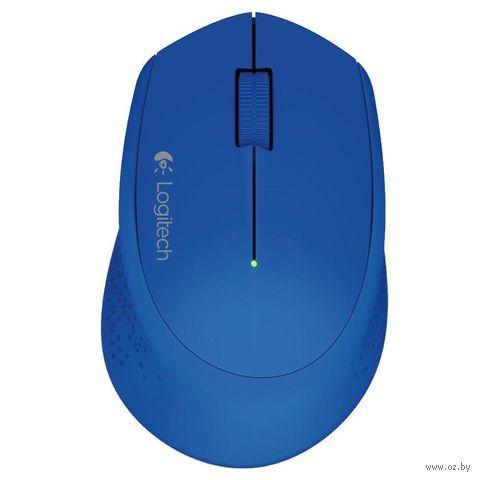 Беспроводная мышь Logitech Mouse M280 (синяя) — фото, картинка