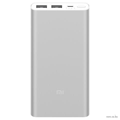 Портативное зарядное устройство Xiaomi Mi Power Bank 2i 10000 mAh (серебристый) — фото, картинка