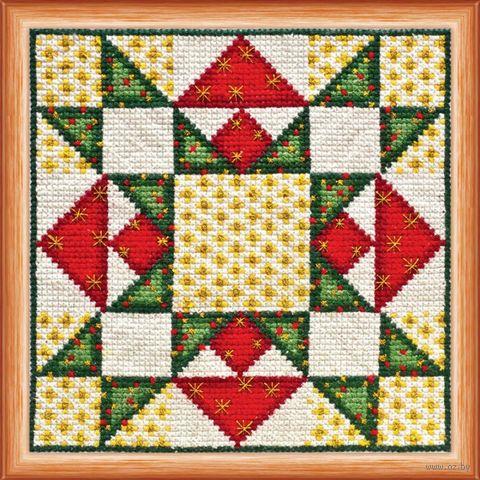 """Вышивка крестом """"Квилт. Рождество"""" (140x140 мм) — фото, картинка"""