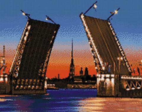 """Алмазная вышивка-мозаика """"Дворцовый мост"""" (480х380 мм) — фото, картинка"""