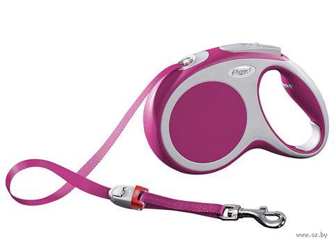 """Поводок-рулетка для собак """"Vario"""" (размер M; до 25 кг; розовый)"""