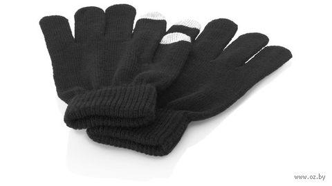 """Перчатки для сенсорного экрана """"Fabrice"""" (L/XL, черные)"""