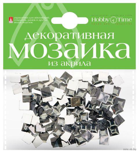 Мозаика декоративная из акрила №23 (8х8 мм; 100 шт.; серый) — фото, картинка