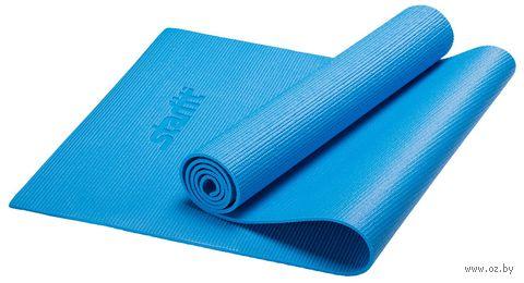 Коврик для йоги FM-101 (173x61x0,4 см; синий) — фото, картинка
