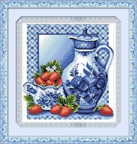 "Алмазная вышивка-мозаика ""Гжель"" (370х400 мм; арт. 7711705) — фото, картинка"