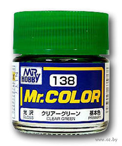 Краска Mr. Color (clear green, C138)