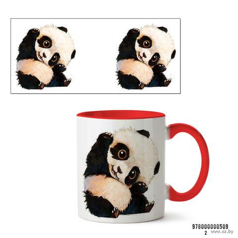 """Кружка """"Панда"""" (красная; арт. 509) — фото, картинка"""
