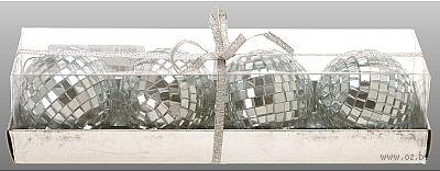 Набор шаров зеркальных декоративных (4 шт; 5 см)