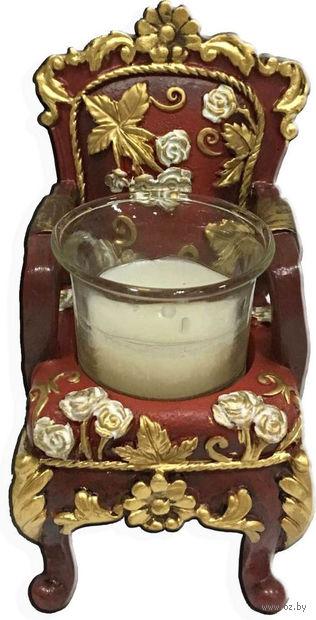 "Подсвечник ""Красный трон"" (6,5х6х10 см; арт. 44566) — фото, картинка"