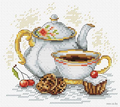 """Вышивка крестом """"Утренний чай"""" (150х180 мм) — фото, картинка"""