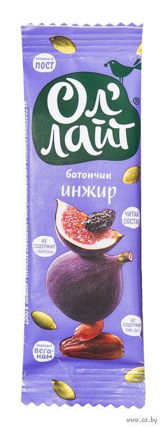 """Батончик фруктовый """"Ол'Лайт. Инжир"""" (30 г) — фото, картинка"""