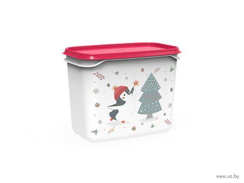 """Контейнер для хранения продуктов """"Christmas"""" (1 л; роза) — фото, картинка"""