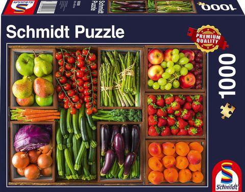 """Пазл """"Свежие овощи и фрукты"""" (1000 элементов) — фото, картинка"""