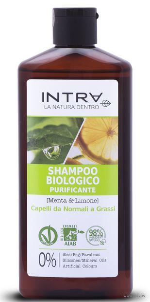 """Шампунь для волос """"Мята и лимон. Для нормальных и жирных волос"""" (250 мл) — фото, картинка"""