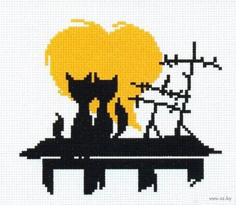"""Вышивка крестом """"Влюбленные коты 2"""""""