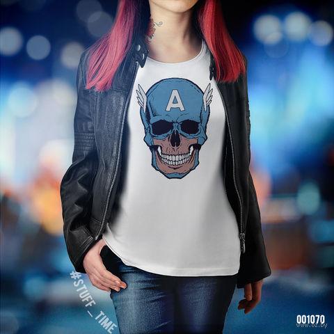 "Футболка женская ""Капитан Америка"" M (1070)"