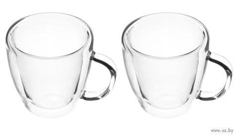 Чашка стеклянная (2 шт.; 250 мл) — фото, картинка
