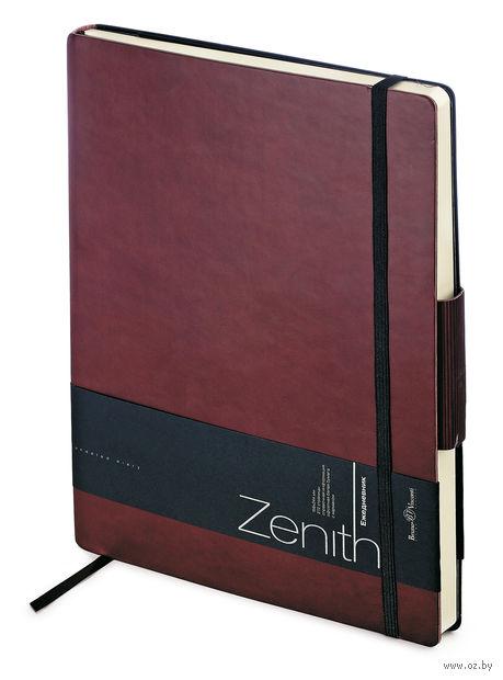 """Ежедневник недатированный """"Zenith"""" (B5; бордовый) — фото, картинка"""