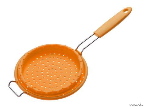 Дуршлаг силиконовый складной (172х95 мм; оранжевый) — фото, картинка