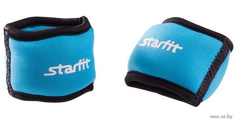 """Утяжелители для рук """"Браслет"""" WT-101 1 кг (пара; синие/чёрные) — фото, картинка"""