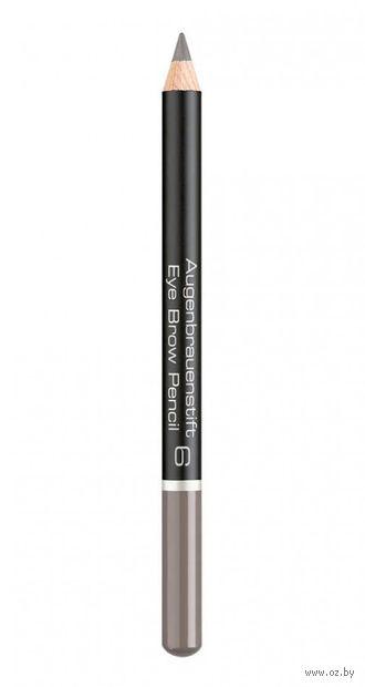 "Карандаш для бровей ""Eye Brow Pencil"" (тон: 6, medium grey brown) — фото, картинка"