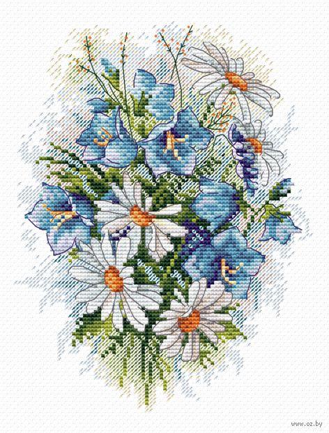"""Вышивка крестом """"Луговые цветы"""" (180х150 мм) — фото, картинка"""