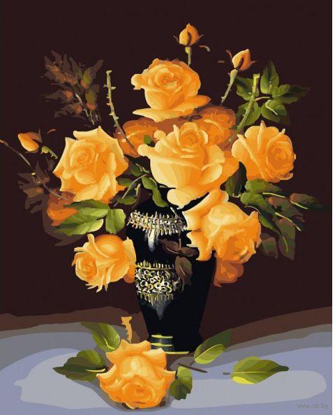 """Картина по номерам """"Букет желтых роз"""" (500х400 мм)"""