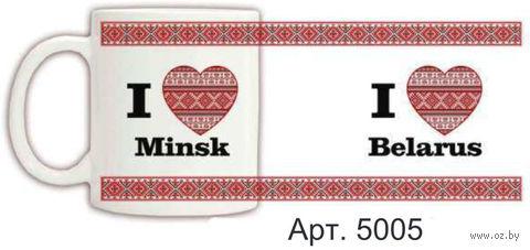 Кружка керамическая с белорусским орнаментом 330 мл. (арт. 5005)