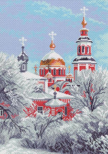 """Канва с нанесенным рисунком """"Зимний храм"""""""