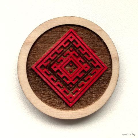 "Магнит деревянный ""Беларускія Арнаменты. Багацьце"" — фото, картинка"