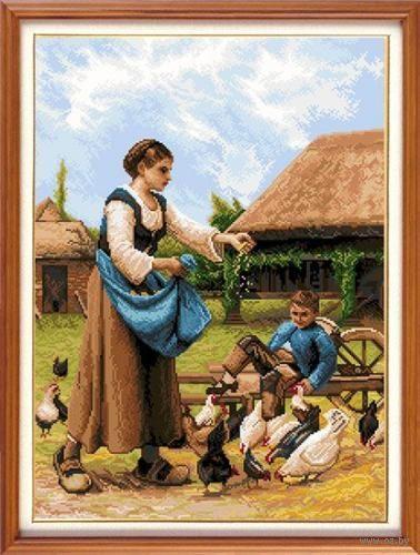 """Вышивка крестом """"На ферме"""" (310х410 мм) — фото, картинка"""