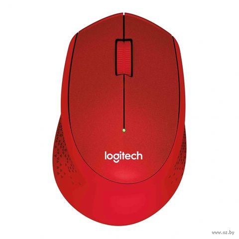 Беспроводная мышь Logitech Mouse M330 SILENT PLUS (красная) — фото, картинка